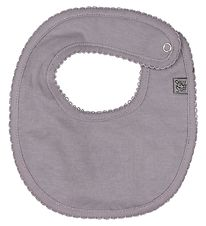 Smallstuff Teething Bib - Lavender w. Lace