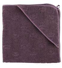 Pippi Hooded Towel - 83x83 - Purple