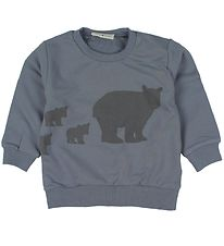 Fixoni Sweatshirt - Dusty Blue w. Polar Bear