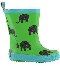 CeLaVi Rubber Boots - Green w. Elephants