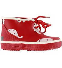 CeLaVi Rubber Boots - Red w. Elephants