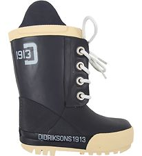 Didriksons Rubber Boots - Navy Blue w. Cream