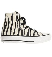 Converse Trainers - All Star Hi - Ivory w. Zebraprint
