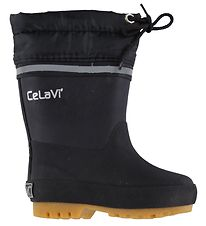CeLaVi Rubber Boots w. Lining - Black