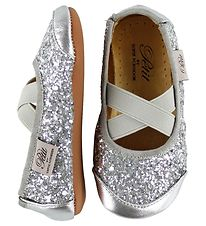 Petit by Sofie Schnoor Ballerina - Leather - Silver Glitter