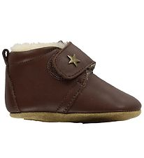 Bisgaard Soft Sole Leather Shoes w. Wool Lining - Brown