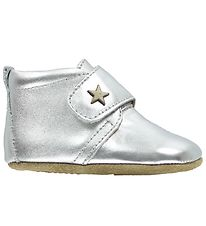 Bisgaard Soft Sole Leather Shoes - Silver w. Star