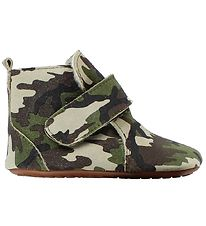Pom Pom Soft Sole Leather Shoes w. Lining - Camouflage