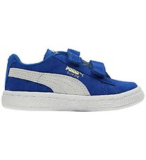 Puma Trainers - Suede - Blue w. Velcro