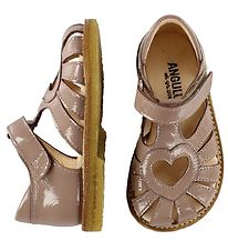 Angulus Sandals - Dusty Rose w. Heart