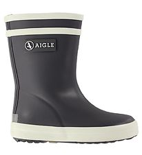 Aigle Rubber Boots - Baby Flac - Charcoal