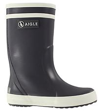 Aigle Rubber Boots - Lolly Pop - Charcoal