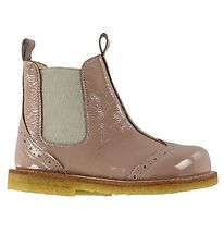 Angulus Boots - Chelsea - Dusty Rose w. Pointelle