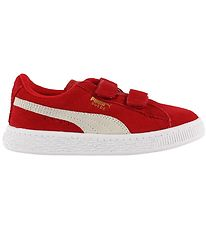 Puma Trainers - Suede - Red w. Velcro