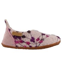 Bisgaard Slippers - Wool - Rose w. Flowers