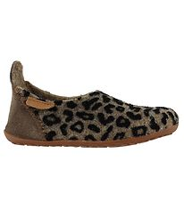 Bisgaard Slippers - Wool - Brown Leopard