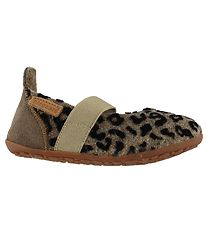 Bisgaard Ballerina Slippers - Wool - Brown Leopard