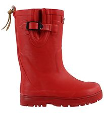 Aigle Rubber Boots w. Lining - Woodypop Fur - Red