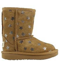 UGG Boots - Classic Short - Brown w. Stars