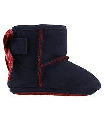UGG Slippers - Wool - Jesse - Navy w. Red