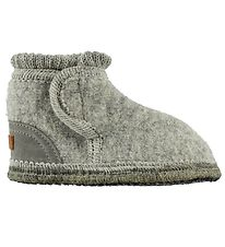 Move By Melton Slippers - Wool - Grey Melange