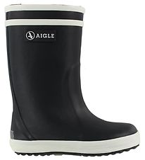 Aigle Rubber Boots w. Lining - Lolly Pop Fur - Dark Navy