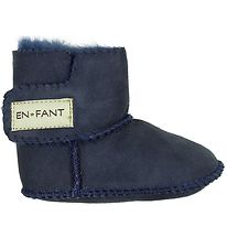 En Fant Sheepskin Slippers - Navy