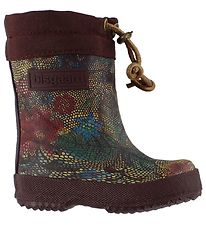 Bisgaard Thermo Boots - Bordeaux w. Flowers