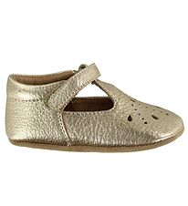 Bisgaard Ballerina Slippers - Gold Pattern