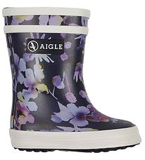 Aigle Rubber Boots - Baby Flac - Dark Flower