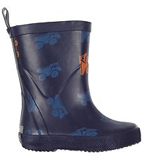 CeLaVi Rubber Boots - Navy w. Trucks
