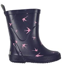 CeLaVi Rubber Boots - Navy w. Swallows
