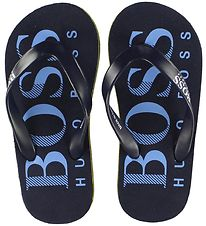 BOSS Flip Flops - Navy/White