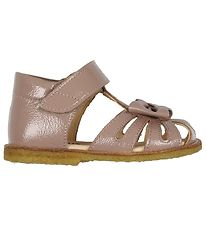 Angulus Sandals - Rose w. Bow/Velcro