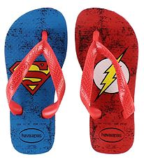 Havaianas Flip Flops - DC Herois - Red w. Superman/The Flash
