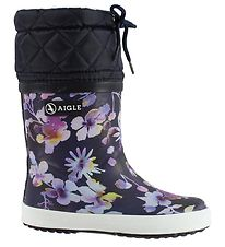 Aigle Thermo Boots - Giboulee - Dark Flower