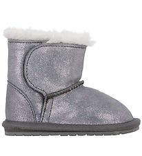 EMU Australia Boots w. Lining - Toddle Metallic - Silver