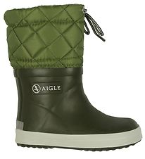 Aigle Thermo Boots - Giboulee - Army Green