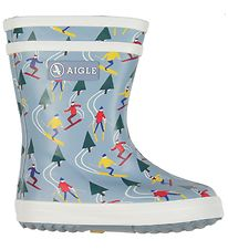 Aigle Rubber Boot w. Lining - Baby Flac Print - Ski