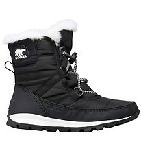 Sorel Winter Boots - Youth Whitney Short Lace - Black