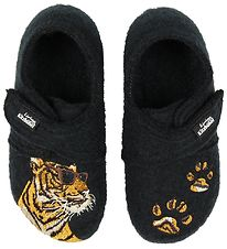 Living Kitzbühel Slippers - Wool - Charcoal w. Tiger