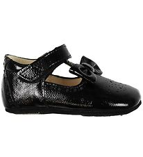 Angulus Ballerina Slippers - Patent Leather - Black w. Bow
