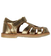 Move By Melton Sandals - Antique Gold w. Heart