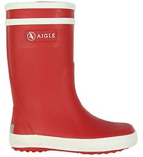 Aigle Rubber Boots - Lolly Pop - Rouge Blanc