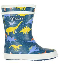 Aigle Rubber Boots - Baby Flac Kid - Dino