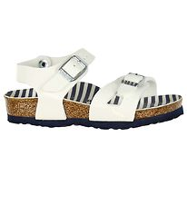 Birkenstock Sandals - Rio - Nautical Stripes White