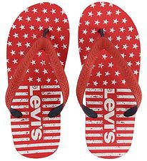 Levis Flip Flops - Florida - Red/Navy
