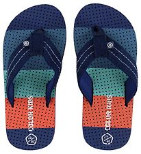 Color Kids Flip Flops - Easton - Blue/Orange
