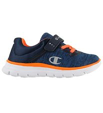 Champion Trainers - Low Cut - Softy B - Blue/Neon Orange