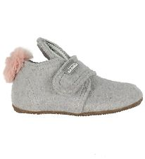 Living Kitzbühel Slippers w. Ears/Pom-Pom - Light Grey